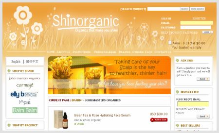 Shinorganic Website