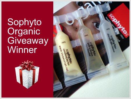Sophyto Organic Sample Giveaway Winner