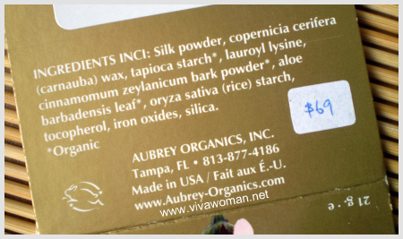 aubrey organics silken translucent base ingredients