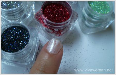 diy glitter nail