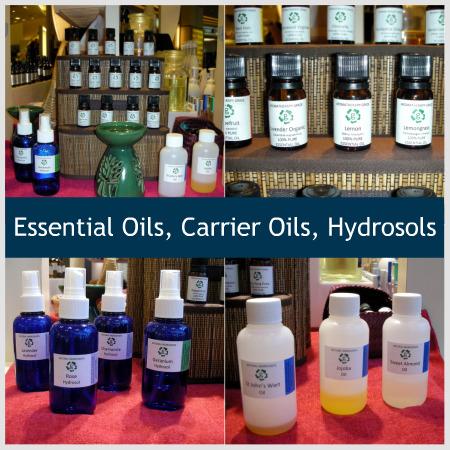 essential oils carrier oils hydrosols