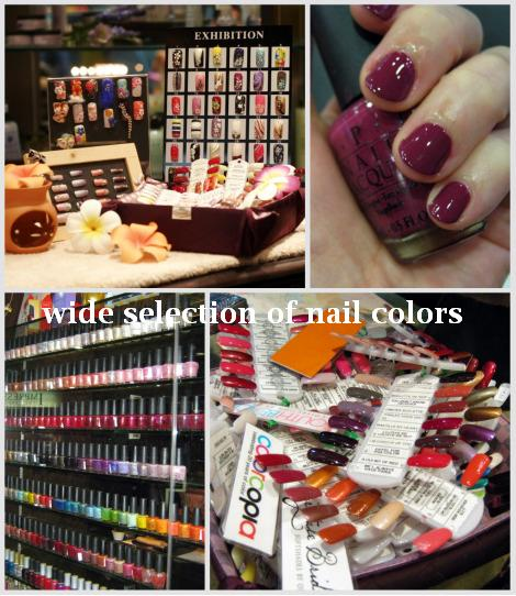 wide selection of nail colors