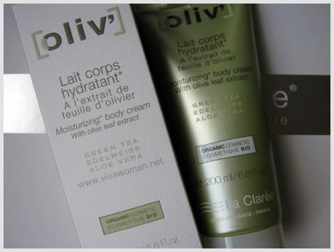 La Claree Oliv' moisturizing body cream