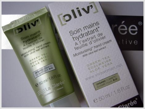 La-Claree-Oliv'-moisturizing -hand-cream