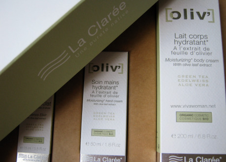 La Claree Oliv' product range