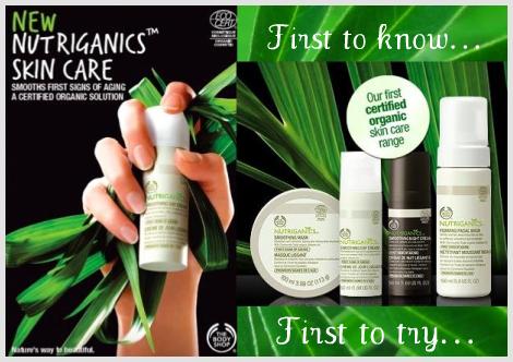 The Body Shop Nutriganics Skin Care Range