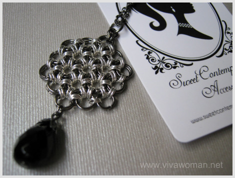 chainmaille handmade necklace