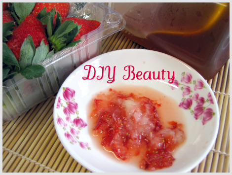 strawberry honey mask