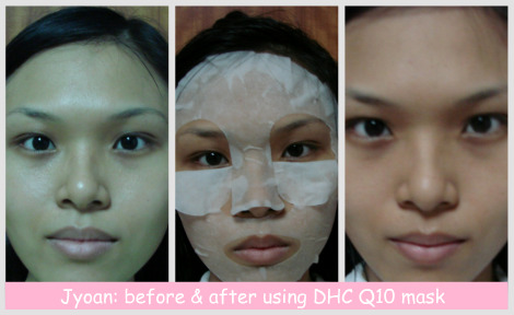 before & after Q10 mask