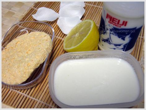 milk and lemon skin polisher