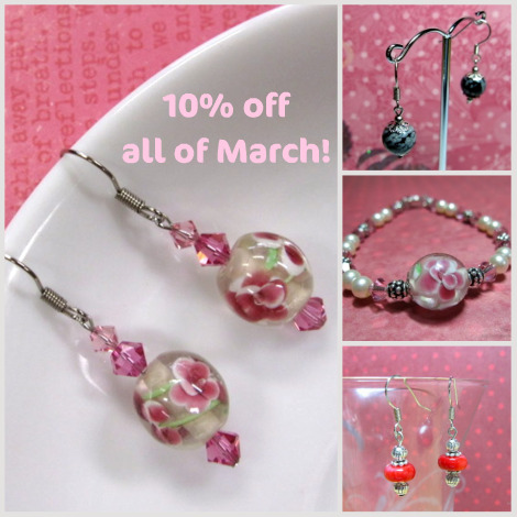 Celebrate March with pretty handmade jewelry
