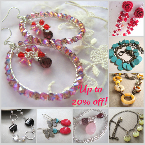 April handmade jewelry special: up to 20% off