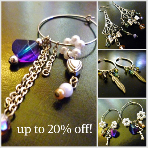 Up to 20% off artistic handmade jewelry