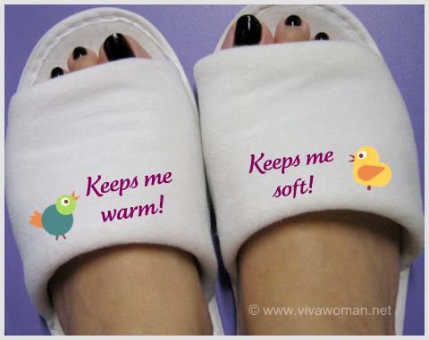 Bedroom slippers to keep feet warm & soft