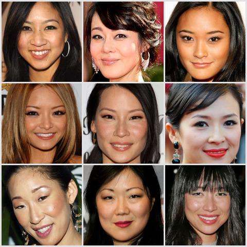 Facial characteristics of asians