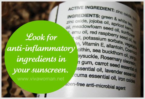 12 anti-inflammatory ingredients against UV