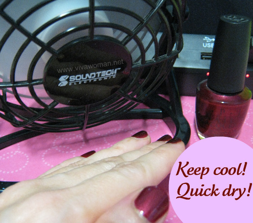 How the mini USB fan keeps my nails cool and dry