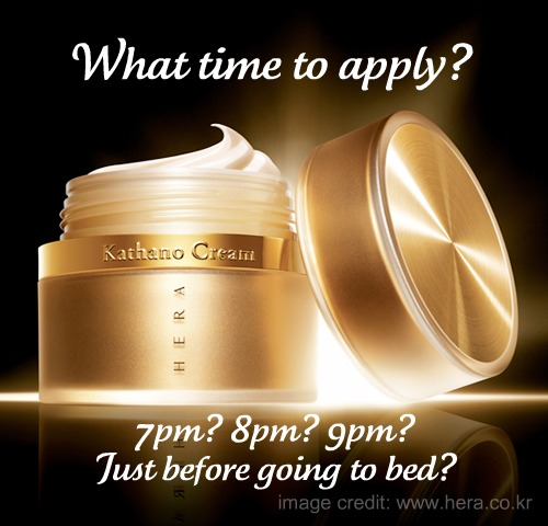Share: what time at night do you put on skin care?