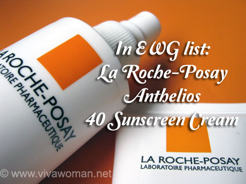 EWG list La Roche-Posay Anthelios 40 as safe