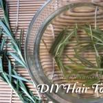 DIY Beauty: homemade rosemary hair tonic rinse