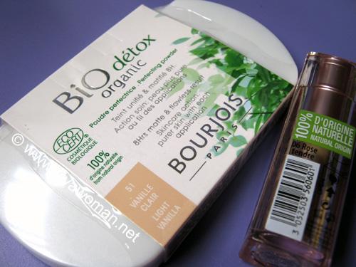 Bourjois organic powder and naturel lipstick