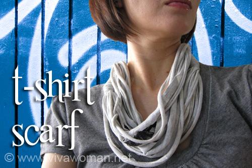 DIY Fashion: t-shirt necklace, scarf & bracelet