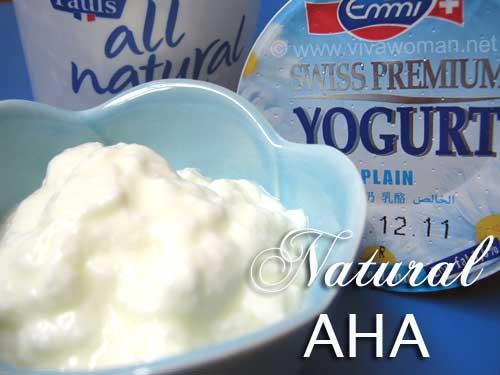 Yogurt: your natural source of Alpha Hydroxy Acids