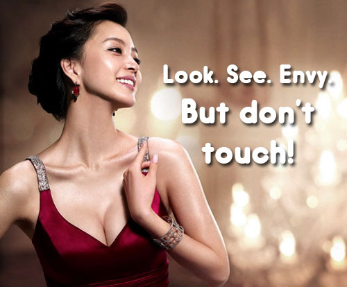 Share: er…let another female touch your bosom?
