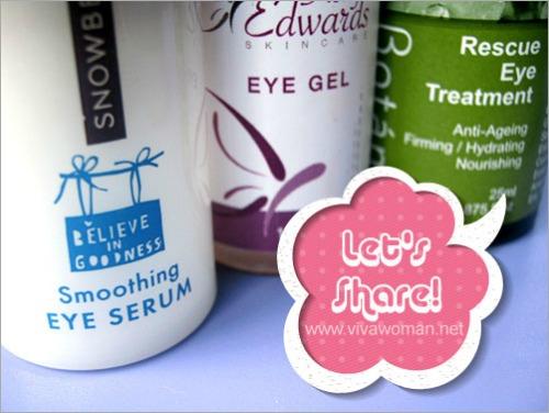 Share: do you prefer using eye gel or eye cream?