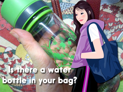 Share: ladies, do you carry a water bottle in your bag?
