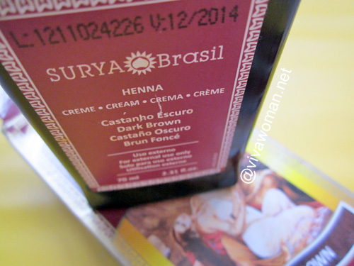 I didn't smell like cat poo with Surya Henna Cream