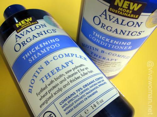 Avalon Organics Thickening Shampoo & Conditioner