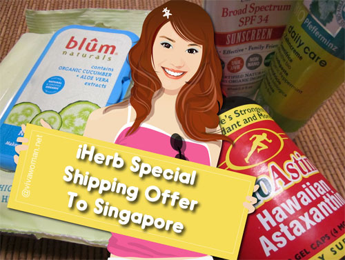 iHerb offers special shipping exclusively to Singapore