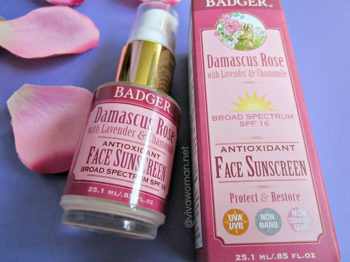Badger Balm Damascus Rose SPF16 Face Sunscreen