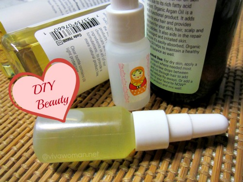 DIY Beauty: cute small serum bottles for oil mixes
