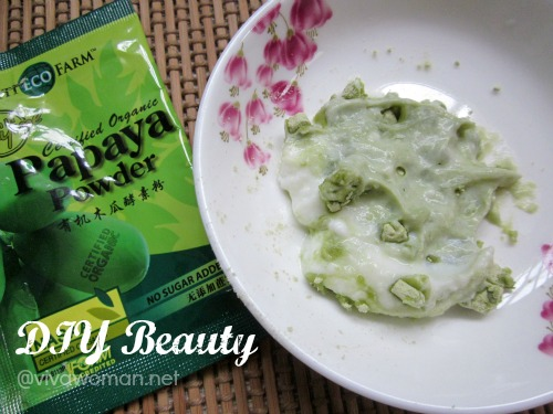 DIY Beauty: green papaya facial enzyme mask