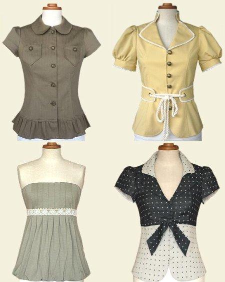 Fun, flirty, feminine chic fashion tops