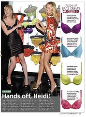 Colored denims & cleavage peeps