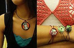 Handmade Julz graphic jewelry