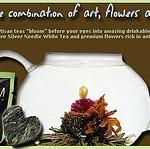 Healthy full bloom tea