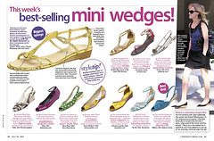 70s inspired mini wedges