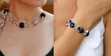 Stunning black onyx handmade jewelry