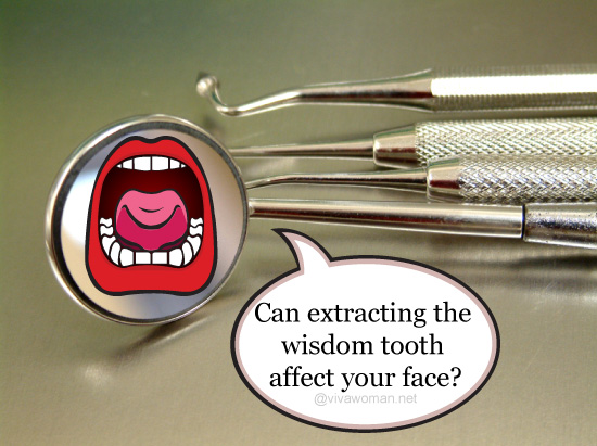 removing wisdom tooth affect face