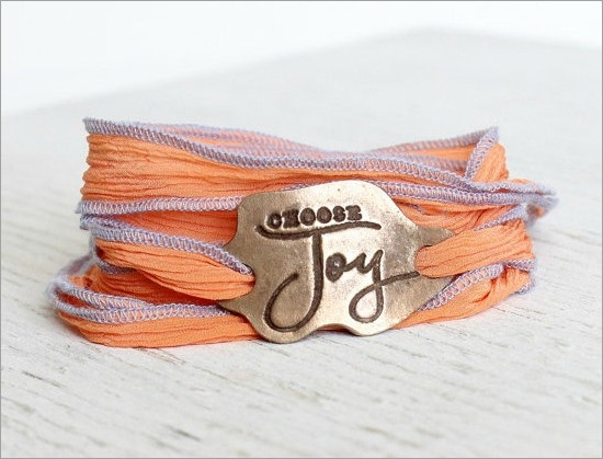 Choose Joy Silk Wrap Bracelet