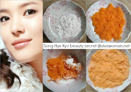 Hallyu Queen Song Hye Kyo loves DIY carrot flour mask