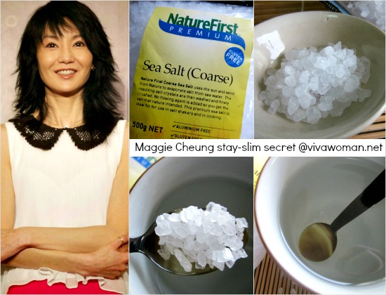 Actress Maggie Cheung stays slim with sea salt