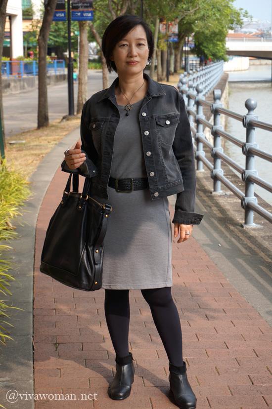 OFTD grey dress