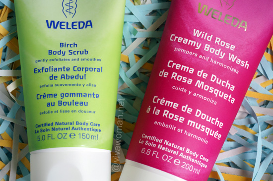 Weleda Birch Body Scrub and Weleda Wild Rose Creamy Rose Body Wash