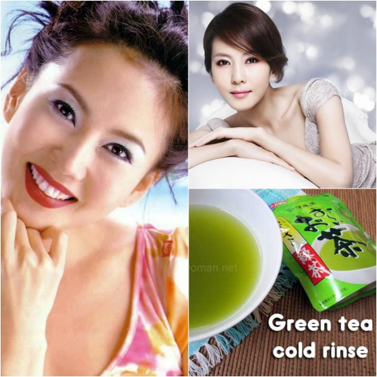 Korean Actress Kim Nam Joo cleans pores with green tea