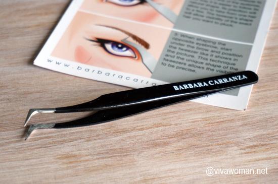 Shorter eyebrow thanks to Barbara Carranza Tweezer